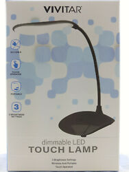 LED TOUCH DESK LAMP READING LIGHT WIRELESS BATTERY OP ADJUSTABLE DIMMABLE TRAVEL $8.95