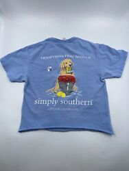 Simply Southern Womens Cut Off Copped Shirt Size Small $5.45