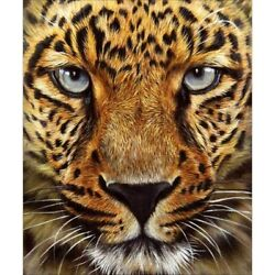 5D Diamond Painting Full Drill Leopard Tiger DIY Kits Art Embroidery Decor Gifts $11.19