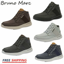 Bruno Marc Mens Boys High Top Sneakers Canvas Walking Shoes Fashion Casual Shoes $19.68
