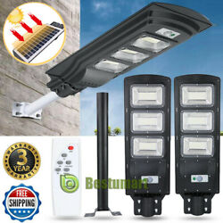90W Outdoor Commercial LED Solar Street Light IP67 Motion Sensor FloodlightPole