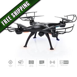 Upgraded 6 Axis Headless RC Quadcopter FPV RC Drone W WIFI HD Camera $48.95