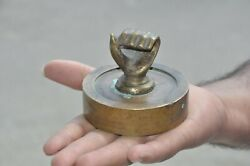 Old Brass Solid Handcrafted Unique Handshape Paper Weight $40.00