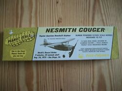 Vintage amp; Rare Peck Polymers Nesmith Cougar Peanut Scale Balsa Plane 10 20 $45.00