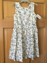 NWT Carter#x27;s Zoo Animal Dress Girls White many sizes $16.97