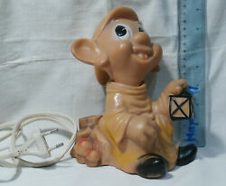 VINTAGE DOPEY Silly Snow White and the Seven Dwarfs RUBBER TOY DOLL Disney LAMP $17.99