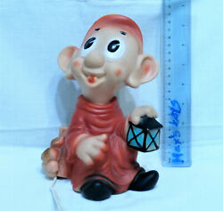 VINTAGE DOPEY Silly Snow White and the Seven Dwarfs RUBBER TOY DOLL Disney LAMP $31.99