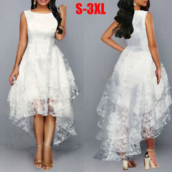 Plus Women Floral Sleeveless Lace Dress Prom Evening Party Ball Gown Wedding $26.67