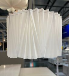 Ikea KUNGSHULT Lamp Shade Large Floor Pendant Table Pleated White 17quot; NEW $58.99