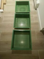Pack of 3 Worm Bin Vermicomposting Compost Additional Composting Bin Trays Green $34.99