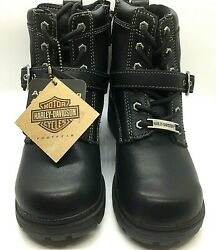 Harley Davidson Womens Boots Tegan With Buckle Size 5.5 M $75.95