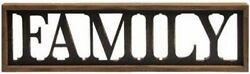 Large Rustic Country Wooden FAMILY Tabletop Sign Wall Hanging Brown Black W11 $26.48
