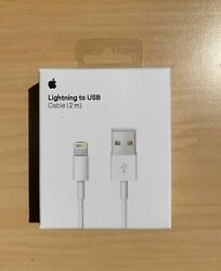 New Original Apple iPhone Lightning Cable 2m 6ft USB Charging Cord Authentic OEM $8.99