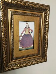 Antique Pairs Of Armenian Card postal framed Paintings $300.00