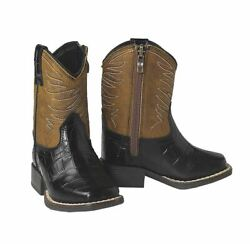 ARIAT LIL#x27; STOMPERS BLACK BROWN BOOT KIDS BOYS A441000301 $44.99