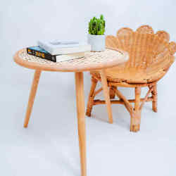 Bamboo Furniture Floor Table Asian Style Low Tea Tables Vintage Rattan Decor New $252.00