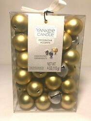 NEW Yankee Candle Decorative Fill Gold Ornaments amp;Silver Jingle Bells Unscented $16.97