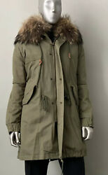 Mr amp; Mrs Parka Fox Fur Army Parka Coat Women's M Made In Italy $884.86