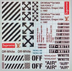 OFF WHITE FOR AIR FORCE ONE AF1 VINYL STENCIL FOR SHOES AND SMALL PROJECTS $15.00