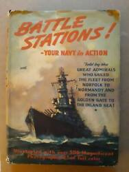 Battle Stations Your Navy in Action 1946 Hardcover Wise amp; Co $10.00