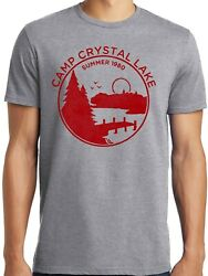 PubliciTeeZ Big and Tall 1980 Camp Crystal Lake Counselor Funny Horror T Shirt $16.99