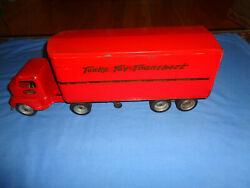 Vintage Tonka Toy Transport Truck and Trailer $299.95