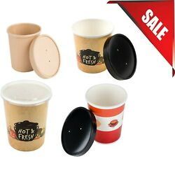 250 Case VARIATIONS 16 oz. Bulk Double Wall White Paper Soup Cup w Vented Lid $102.62