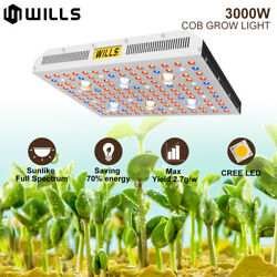 3000W COB LED Grow Light Commercial Indoor Hydroponics Hydro UV IR Lamp