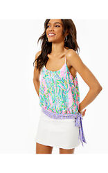 NWT LILLY PULITZER Women#x27;s #x27;AINSLEY#x27; Multicolor UNICORN OF THE SEA TOP S $66.47