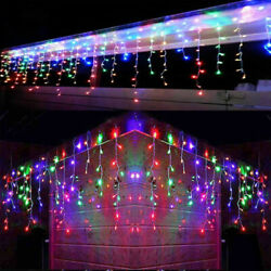 CHRISTMAS LED MULTICOLOR SNOWING ICICLE BRIGHT PARTY WEDDING XMAS OUTDOOR LIGHTS