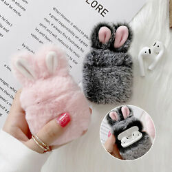 For Apple AirPods 1amp;2 Pro 3 Earphone Charging Case Furry Bunny Rabbit Cute Cover $8.79