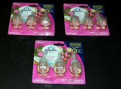 3 Count Glade Plugins Exotic Tropical Blossoms 2.01 FL OZ. Total As Pictured $6.95