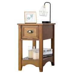 Chair W Storage Compact Side Table Contemporary Table w Drawer Nightstand $95.79