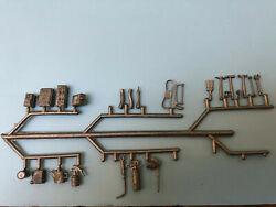 1963 Marx Gas Station Playset Accessory Sprue. 24 Items Attached. Rare $21.95