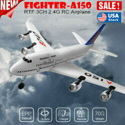 A150 RC Plane 2.4Ghz Remote Control Airplane Ready To Fly RTF Gliding Aircraft $53.93