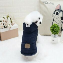 Pet Dogs Cotton Warm Clothes Puppy Cat Hooded Winter Sweater Jacket Coat Apparel $9.92