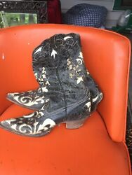 Vintage Corral Lizzard Skin Womens Boots Size 8m $59.00