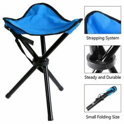 Folding Stool Slacker Chair Tripod Outdoor for Camping Fishing Hiking Rest Seat