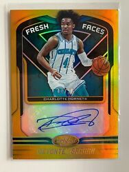 2019 20 Certified Fresh Faces Signatures Gold 10 Devonte#x27; Graham $65.00