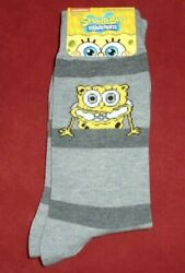 NEW MENS quot;SPONGEBOB CARTOON CHARACTER 1 PAIR NOVELTY SOCKSquot; Shoe Size 6 12 $7.49