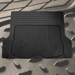 Trunk Cargo Floor Mats for Auto SUV Van All Weather Vinyl Black $22.99