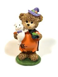 Greenbrier Polystone Halloween Bear Wizard holding ghost 5.5quot; $8.95
