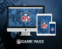 NFL GAME PASS GAMEPASS WATCH REPLAYS OF ALL GAMES LIVE RADIO US RESIDENTS ONLY $29.75