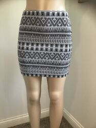 Express Skirt Casual To Formal For Women's Size XS TP Stretchy Black And White. $23.90