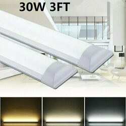 6 12x LED Shop Light Garage Fixture Ceiling Lamp LED Batten Tube Light 30W 90cm $13.07