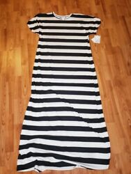 Lularoe Beautiful Striped Maria in XL NWT from a smoke and pet free home $31.50