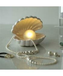 Francfranc Shell Lamp Small Table Light White in Box New $67.98