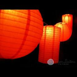 Fantado 8quot; Chinese New Year Round amp; Cylinder Paper Lantern String Light COMBO... $47.05