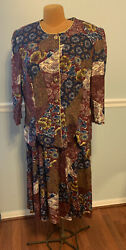 Ladies 2 Piece Skirt And Top WHIRLAWAY FROCKS Size 20 WP $10.00