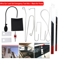 10pcs Car Door Open Tool Key Lock Out Emergency Kit Unlock Air Pump Universal $19.79